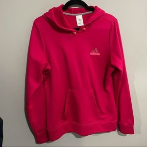 Adidas large women's active wear hoodie pink
